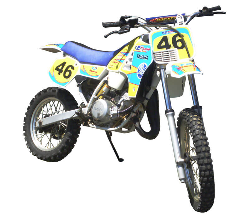 Bike & MX Graphics Blue and yellow mx decals