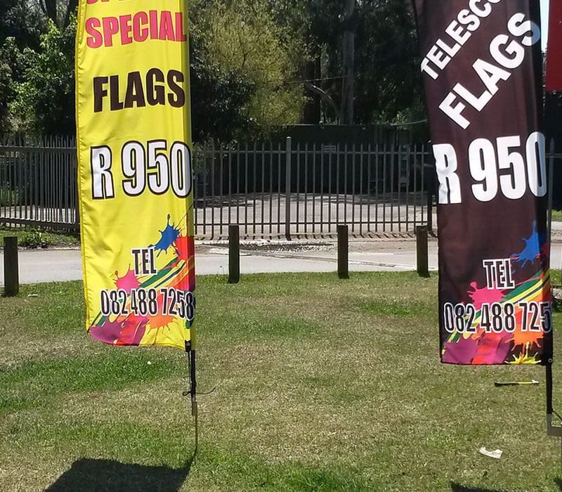 Promotional material: flags