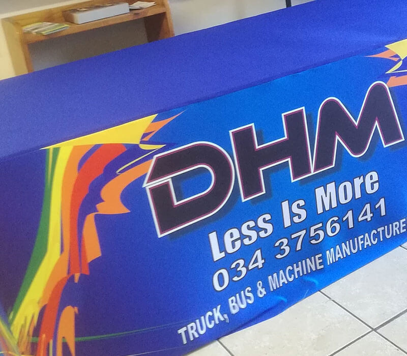 Promotional material: branded table cloths